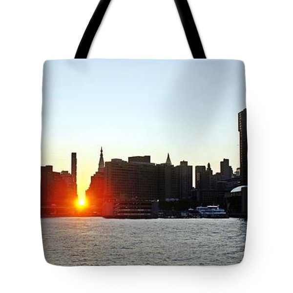 Tote Bag featuring the photograph Manhattanhenge 2011 by Lilliana Mendez