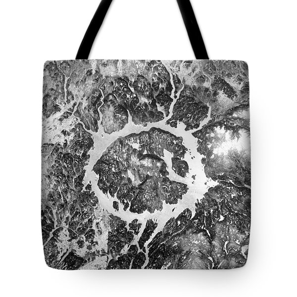 Manicouagan Crater Tote Bag by Anonymous