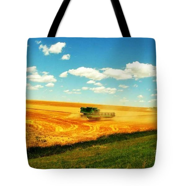 Mankato Nebraska Wheat Harvest Tote Bag by PainterArtist FIN
