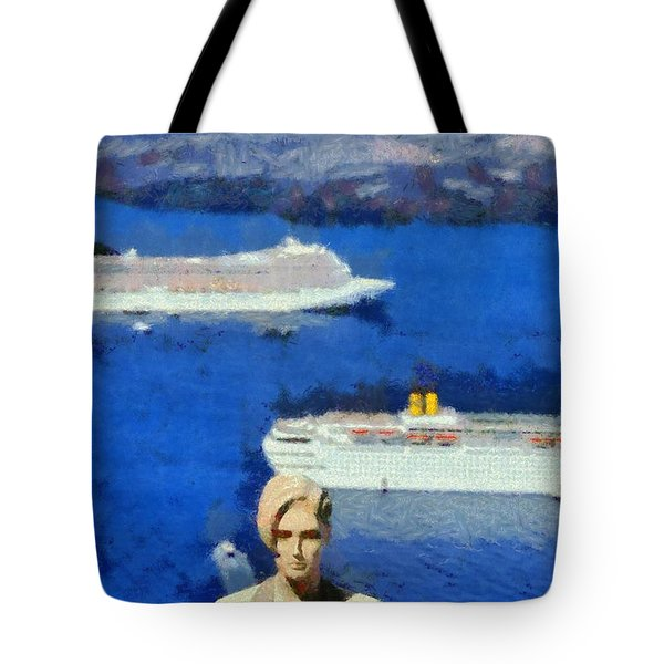 Mannequin Doll In Fira City Tote Bag