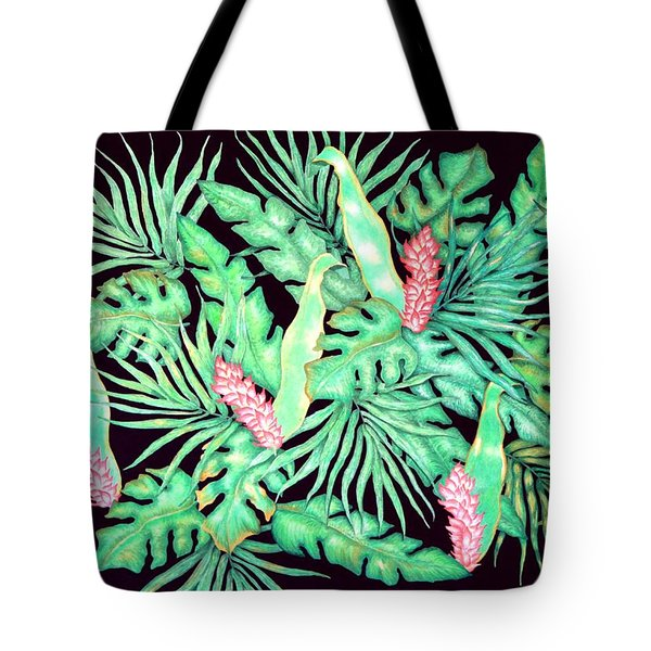 Tote Bag featuring the painting Manoa by Thomas Gronowski
