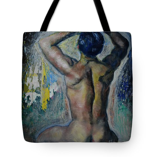 Man's Back Tote Bag