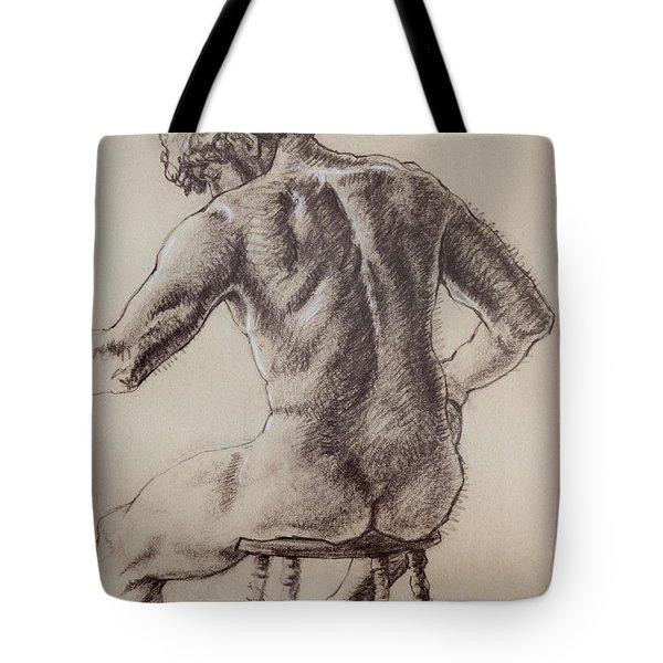 Man's Back Tote Bag by Sarah Parks