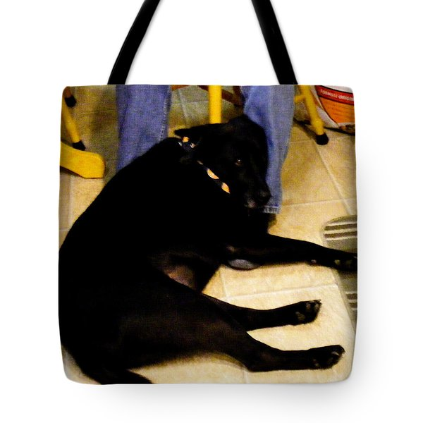 Man's Best Friend Tote Bag by Barbara Griffin