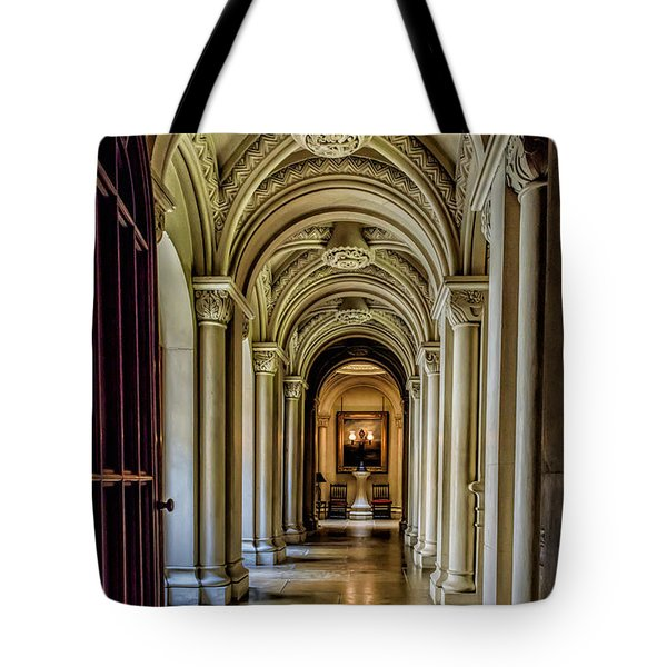 Tote Bag featuring the photograph Mansion Hallway by Adrian Evans