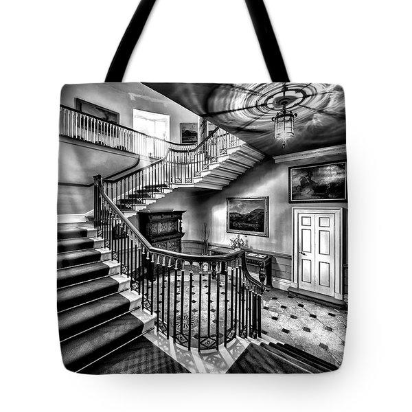 Mansion Stairway V2 Tote Bag by Adrian Evans