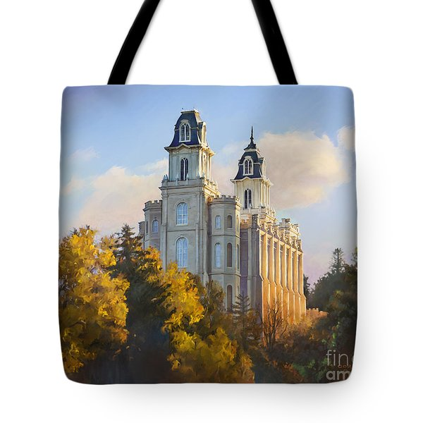 Manti Temple Tote Bag