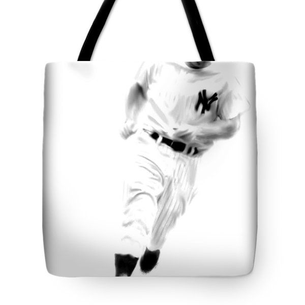 Mantles Gate  Mickey Mantle Tote Bag by Iconic Images Art Gallery David Pucciarelli