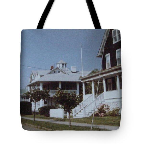 Mantoloking Nj Victorians Tote Bag by Joann Renner