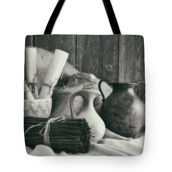 Manuscripts Still Life II Tote Bag