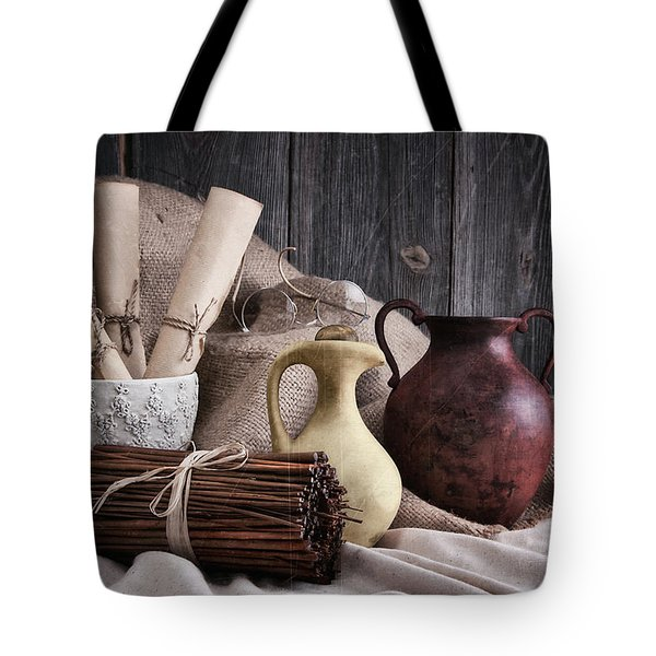Manuscripts Still Life Tote Bag