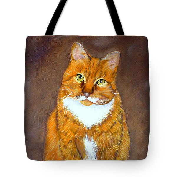 Tote Bag featuring the painting Manx Cat by Terri Mills
