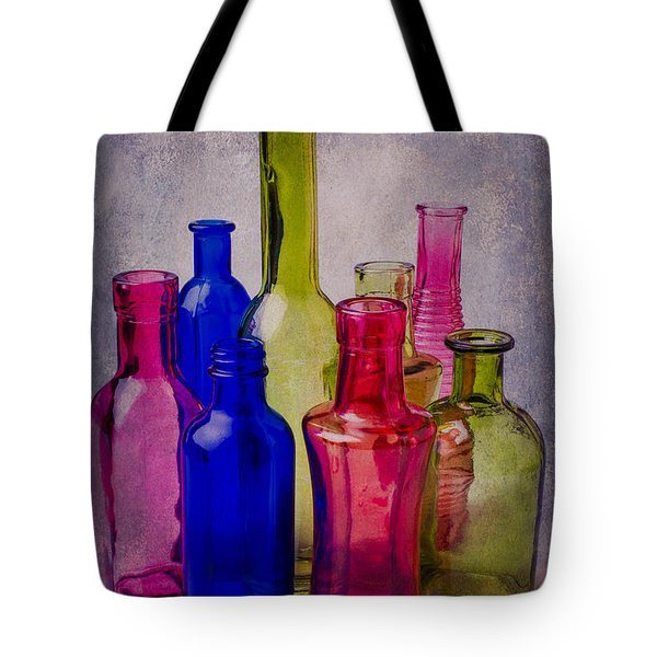 Many Colorful Bottles Tote Bag