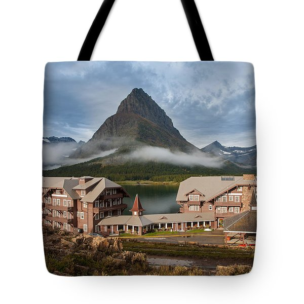 Many Glacier Hotel Tote Bag by Jack Bell