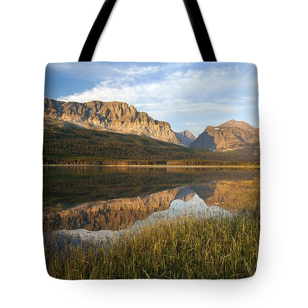 Tote Bag featuring the photograph Many Glacier Reflections by Jack Bell
