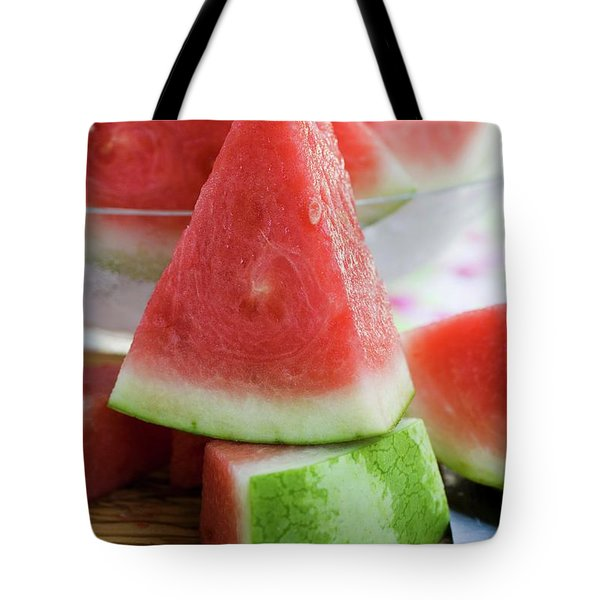 Many Pieces Of Watermelon Tote Bag
