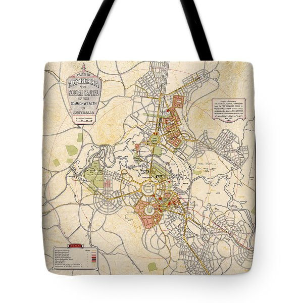 Map Of Canberra 1927 Tote Bag