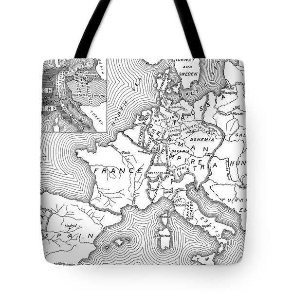 Map Of Europe, 1812-1815 Tote Bag