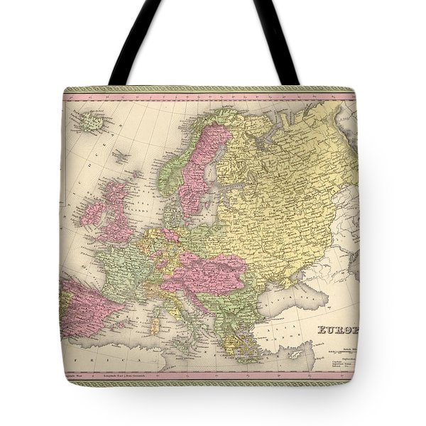 Map Of Europe Tote Bag by Gary Grayson