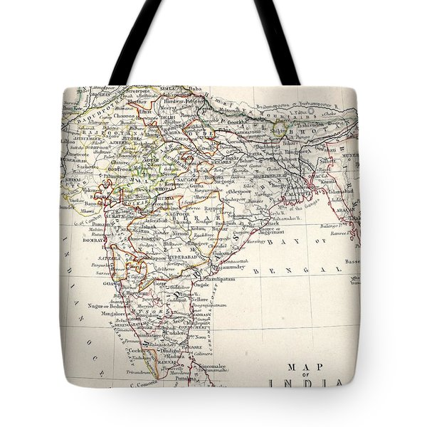 Map Of India Tote Bag by Alexander Keith Johnson