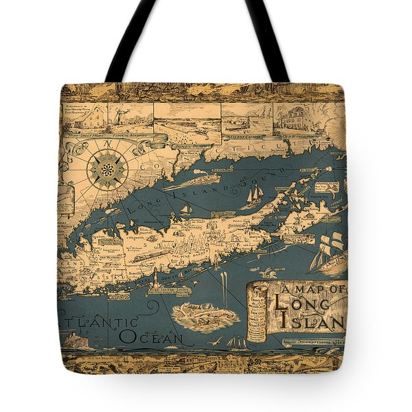 Map Of Long Island Tote Bag