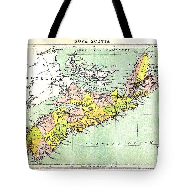 map of Nova Scotia - 1878 Tote Bag