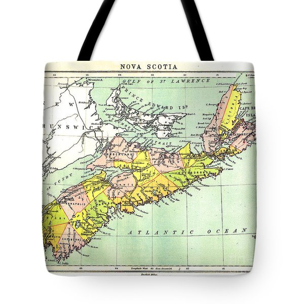 map of Nova Scotia - 1878 Tote Bag
