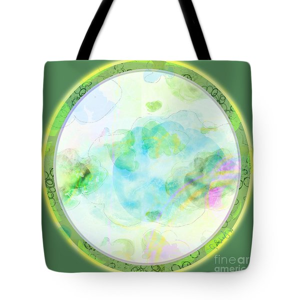 Map Plate Tote Bag