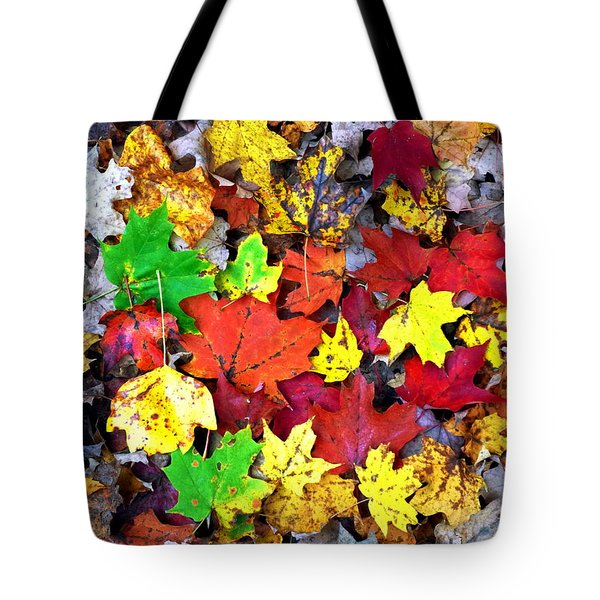 Tote Bag featuring the photograph Maple Carpet by Jackie Carpenter