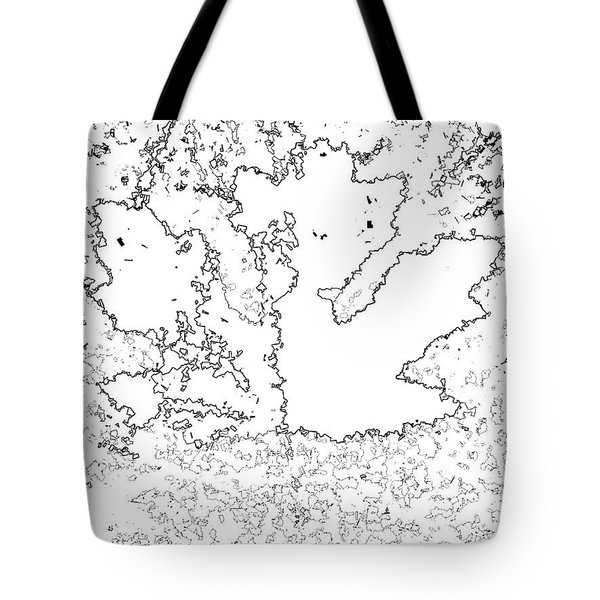 Maple Leaf Black Lines Tote Bag