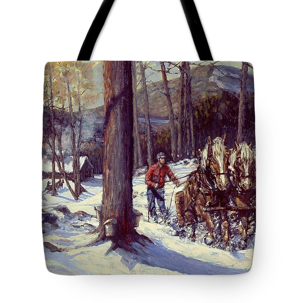 Maple Sugar Time Tote Bag