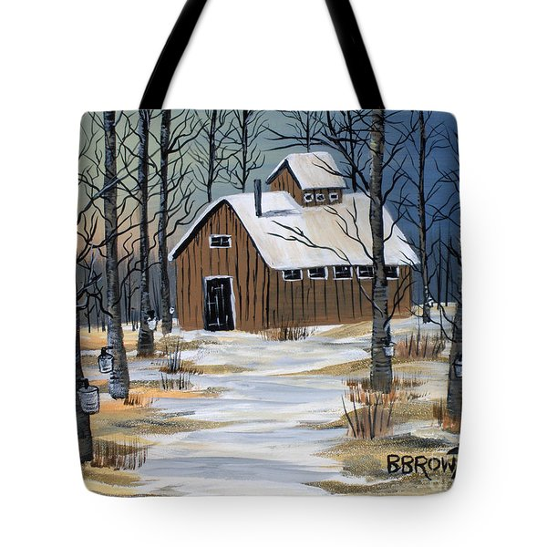 Maple Syrup Shack Tote Bag