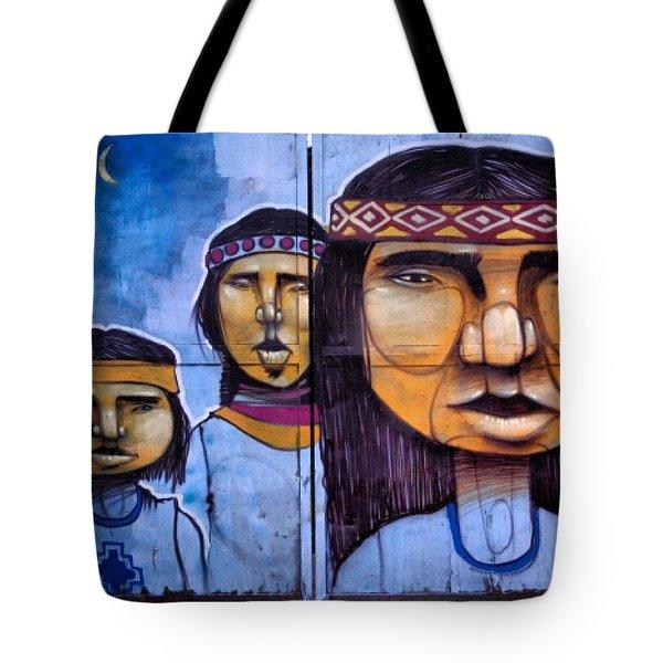 Mapuche Chilean Aborigine Graffiti's Tote Bag