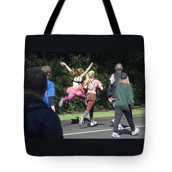 Marathon Grand Jete  Tote Bag by Daniel Furon