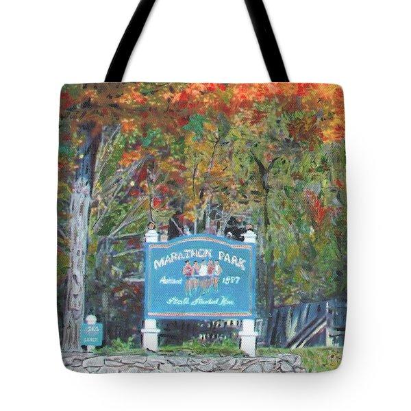 Marathon Park Tote Bag