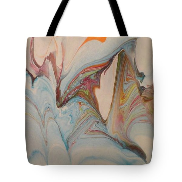 Tote Bag featuring the painting Marble 24 by Mike Breau