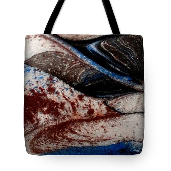 Tote Bag featuring the painting Marble 4 by Mike Breau