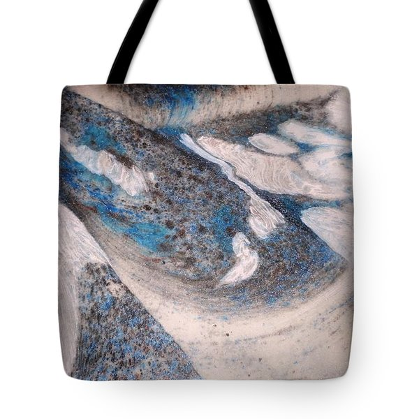 Tote Bag featuring the painting Marble 7 by Mike Breau