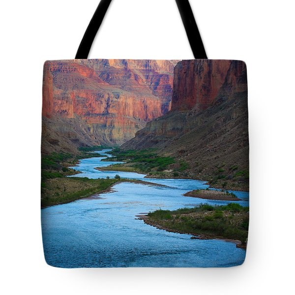 Marble Canyon Rafters Tote Bag by Inge Johnsson