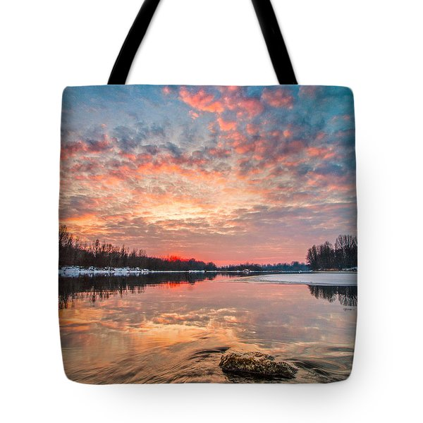 Marble Sky II Tote Bag by Davorin Mance