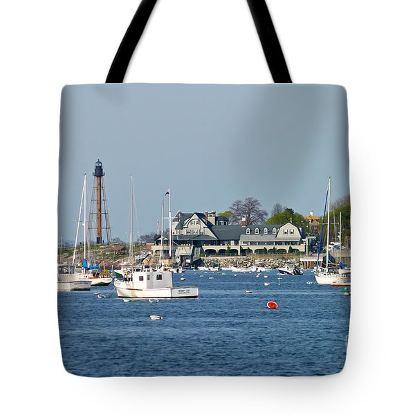Marblehead Light And Yacht Club Tote Bag