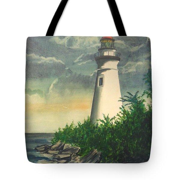 Marblehead Light On Lake Erie Tote Bag