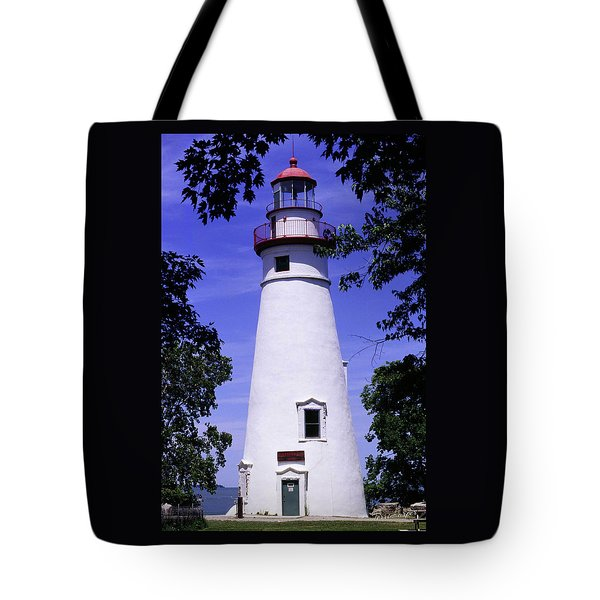 Tote Bag featuring the photograph Marblehead Light by Terri Harper