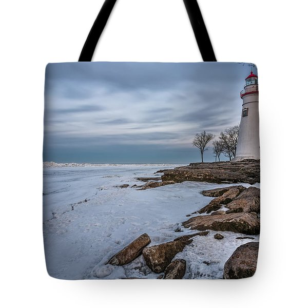 Marblehead Lighthouse  Tote Bag by James Dean
