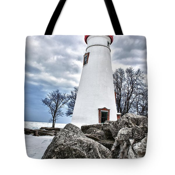 Marblehead Lighthouse Tote Bag by Renee Sullivan