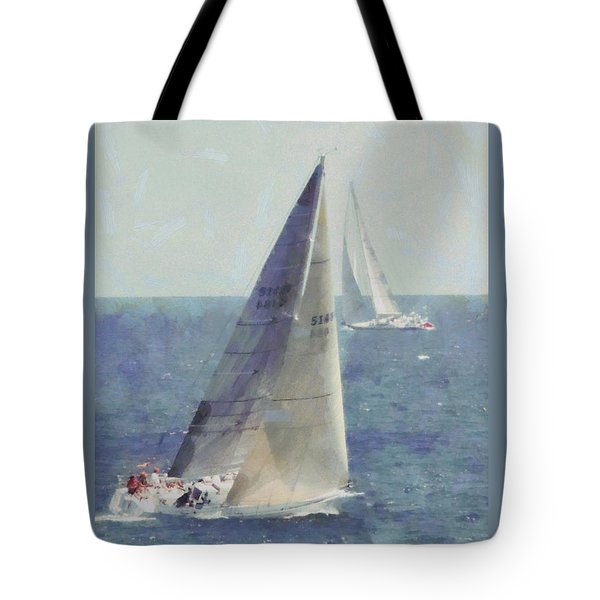 Marblehead To Halifax Ocean Race Tote Bag by Jeff Folger