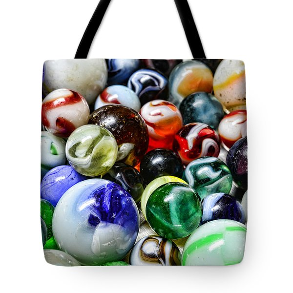 Marbles All That Color Tote Bag by Paul Ward