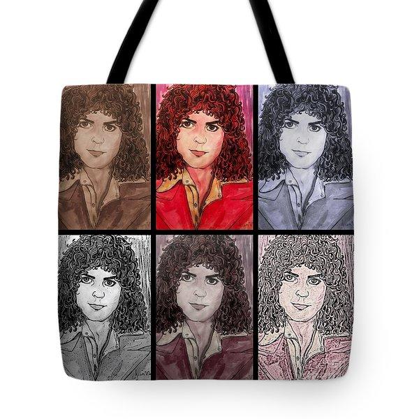 Marc Bolan Glam Rocker Collage Tote Bag