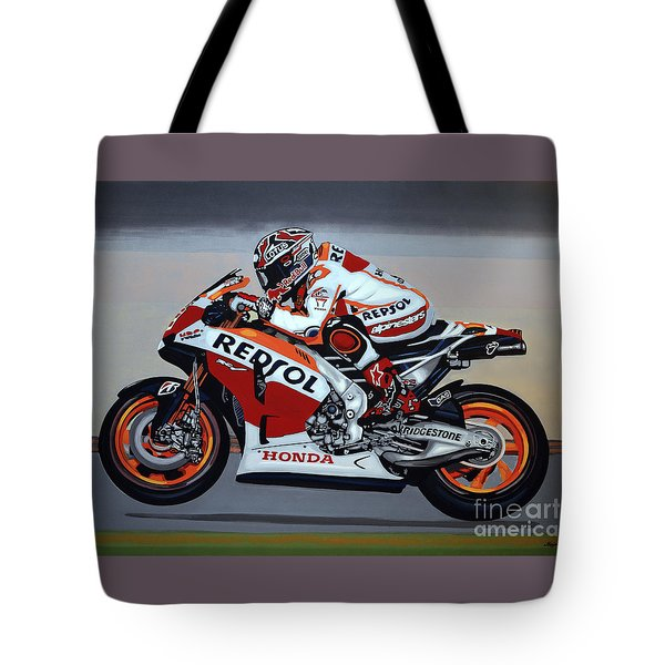 Marc Marquez Tote Bag by Paul Meijering