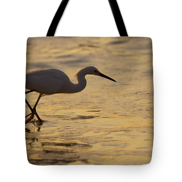 March Of The Egret Tote Bag